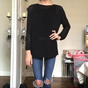 Black Lightweight Sweater | American Apparel